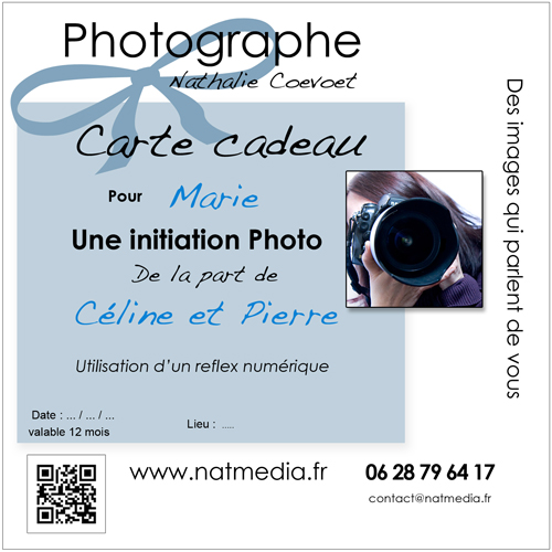 Carte cadeau initiation à la photographie Chambery