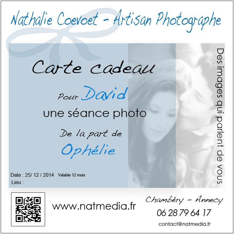 carte cadeau photo Chambéry Savoie